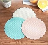 餐墊 6片裝碗墊子鍋墊圓形餐墊盤墊廚房餐桌墊防燙耐熱家用餐墊防水