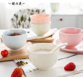 全館83折 家用彩色可愛日式大號陶瓷碗小碗大碗甜品飯碗湯碗泡面碗餐具套裝【櫻花本鋪】