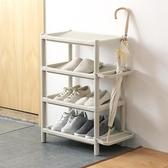 多層簡易鞋架子防塵家用宿舍門口塑料組裝現代簡約客廳浴室拖鞋架wy 快速出貨