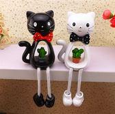 卡通創意吊腳娃娃小熊樹脂家居裝飾擺件 居家可愛小動物擺件