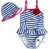 女童泳裝2019新品兒童泳裝正韓女童公主連身裙式泳裝嬰幼兒小寶寶溫泉 特惠免運
