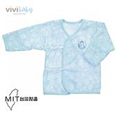 【VIVIBABY】粉漾可反摺袖肚衣(藍) 199元