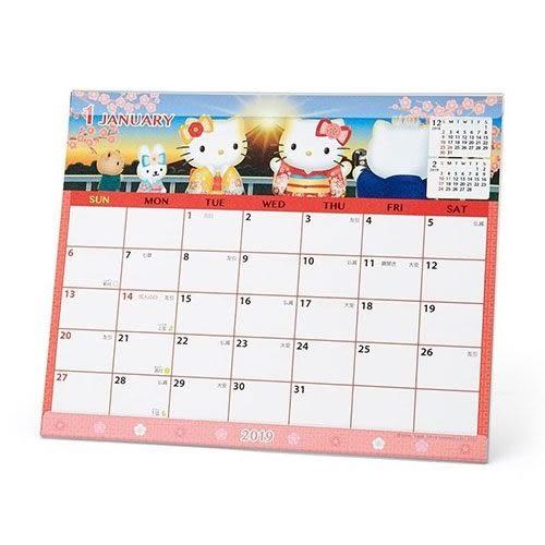 【震撼精品百貨】2019年曆~Sanrio HELLO KITTY 2019 桌上型月曆#33027