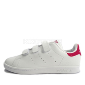 Adidas  Stan Smith CF C [B32706] 中童鞋 運動 休閒 復古 經典 愛迪達 白綠 魔鬼氈