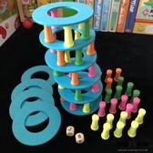 木質層層高兒童 益智 抽積木平衡塔親子游戲 玩具 456歲寶寶 疊疊樂