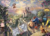 【拼圖總動員 PUZZLE STORY】美女與野獸(作者:Thomas Kinkade) 日本進口拼圖/Tenyo/迪士尼/2000P