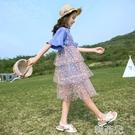 女童連身裙 女童連身裙新款兒童公主裙超洋氣夏裝中大童網紗裙子韓版超仙 韓菲兒