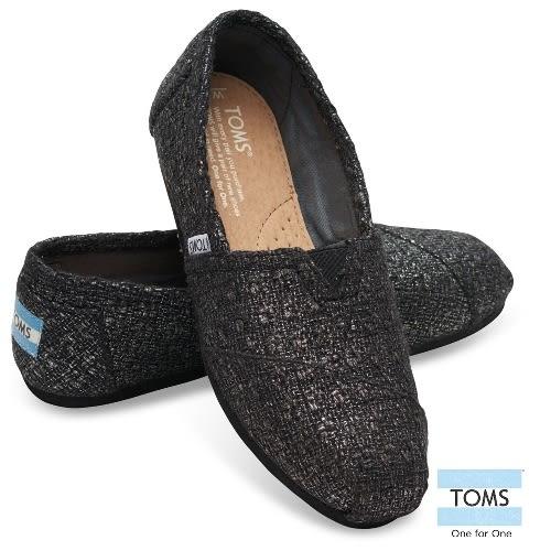 TOMS 黑色編織帆布懶人鞋-女款(10006153   BLACK)