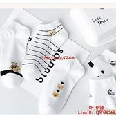 短襪女夏季薄款短筒船襪夏天日系襪子女純棉小熊淺口百搭【CH伊諾】