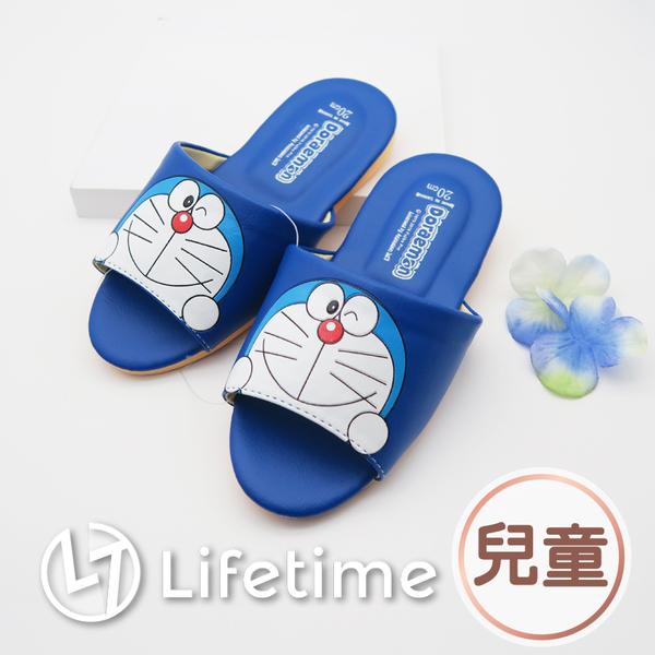 ﹝哆啦A夢兒童皮質拖鞋﹞正版室內拖鞋 兒童鞋 小孩鞋 小叮噹 Doraemon〖LifeTime一生流行館〗
