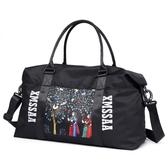 小米世家旅行包女大容量手提行李包網紅短途套拉桿包帆布旅行箱袋