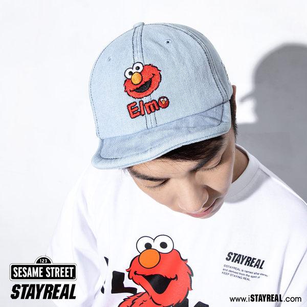 STAYREAL x 芝麻街 Hi!Elmo丹寧短簷帽