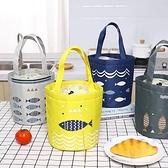 便當袋 鋁箔加厚飯盒袋手提包圓形上班族布袋子保溫帶飯便當袋餐包手拎袋