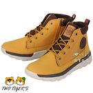 法國 Palladium PALLAVILLE TRNG MID 卡其色 側拉鏈短童靴 NO.R1962
