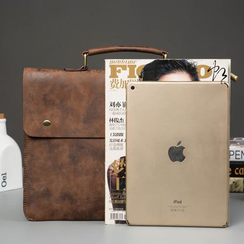 PocoPlus 韓版PU皮公文包 薄款韓版男包 復古文件手提包電腦包IPad包潮 B891