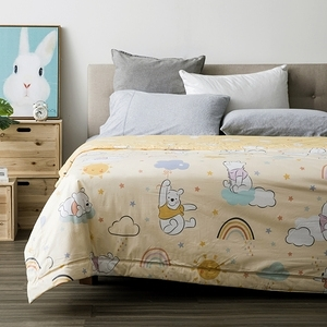 HOLA 迪士尼系列 維尼 純棉防螨抗菌涼被 雙人 Winnie the Pooh