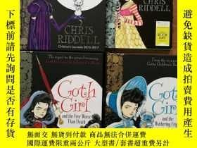二手書博民逛書店英文原版罕見Goth Girl 系列 四本合售 三本精裝 一本平裝較薄 Goth Girl and the Gho