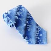 Roberta di Camerino 諾貝達葉形圖紋領帶-水藍