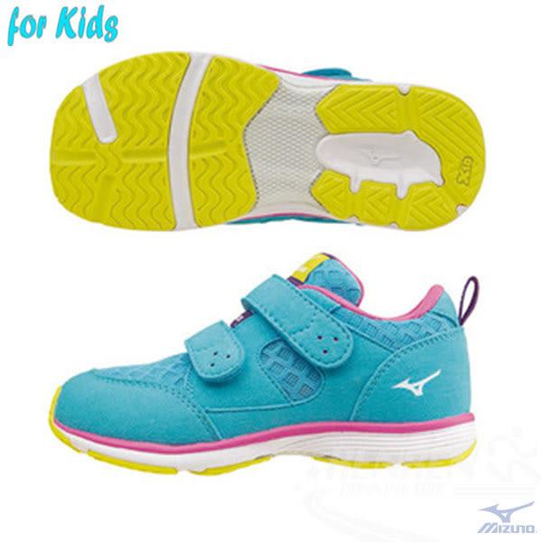 MIZUNO美津濃 HUG MOCK 童鞋(天空藍)適合4~10歲孩童