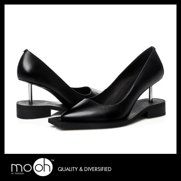 真皮高跟鞋 尖頭跟鞋 英國時尚簡約個性高跟鞋   mo.oh (歐美鞋款)