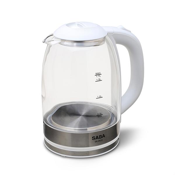 【SABA】1.7L大容量玻璃快煮壺(SA-HK25)