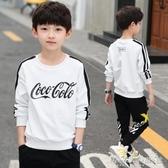 兒童裝男童秋裝長袖T恤新款秋季中大童男孩套頭韓版上衣潮 晴天時尚館