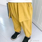 男童褲子 韓版春秋兒童男寶寶純色休閒運動長褲潮 樂芙美鞋