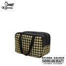 手提袋-編織餐袋-黑黃金千鳥 -03A