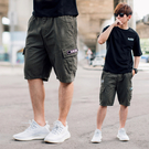 短褲 韓國製BLACK LABEL高磅休閒短褲工裝短褲【NB0846J】