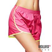 Mollifix瑪莉菲絲 絕對好動撞色運動短褲 (桃紅)