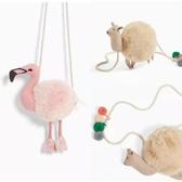 兒童包包 Z家新款女童兒童寶寶粉色駝鳥包包斜挎包 駝色小羊包包-快速出貨