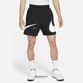 NIKE 短褲 NSW SWOOSH 黑色 大勾 男 (布魯克林) DD5998-010