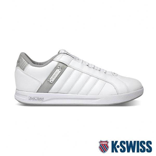 K-SWISS Lundahl Slip-On S CMF鞋套式運動鞋-男-白/灰