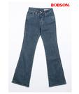 BOBSON 女款中腰伸縮小喇叭褲(9044-52)