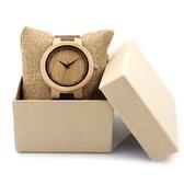 木製石英錶男女手錶-真皮錶帶簡約設計情侶款腕錶3款73pp334【時尚巴黎】