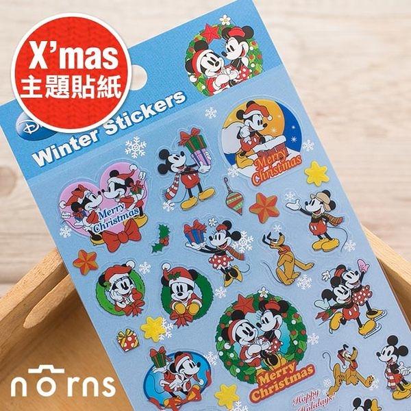 【日貨X'mas主題貼紙 米老鼠】Norns Mickey 米奇 米妮 聖誕節 卡片 裝飾 Christmas 聖誕節禮物