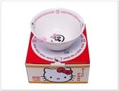 ♥小花花日本精品♥Hello Kitty 側坐貓造型陶瓷碗公湯麵碗泡麵碗11113201