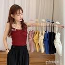 吊帶背心女外穿韓版打底交叉抹胸2021夏季新款美背學生短款上衣潮 小宅妮