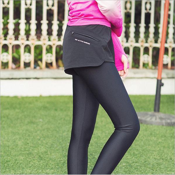 瑜珈褲 假二件 運動褲 健身褲 顯瘦 高彈力 慢跑短褲 健身房運動 彈力長褲 休閒褲 運動用品