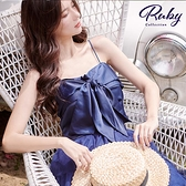 上衣 吊帶綁帶短版無袖上衣-Ruby s 露比午茶