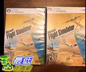 [106美國直購] 二手良品 Microsoft Flight Simulator X Deluxe Edition 2006 With Product Key Code PC Game