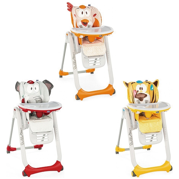 【Chicco】 Polly 2 Start多功能成長高腳餐椅(四輪版) (3款)