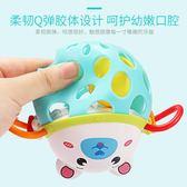 嬰兒玩具搖鈴新生兒0-3-6-12個月益智可咬女寶寶軟膠手搖鈴男孩子     西城故事