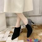 高跟鞋 春秋季女鞋2021新款尖頭深口單鞋歐美百搭高跟細跟低幫小皮鞋女潮寶貝計畫 上新