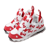 Reebok 慢跑鞋 Versa Pump Fury Hello Kitty 白 紅 童鞋 小童鞋 襪套式 無鞋帶【ACS】 EH3059