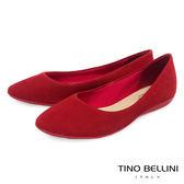 Tino Bellini巴西進口點點壓紋娃娃鞋_紅 B73204 歐洲進口款