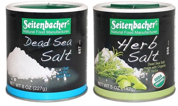 林博 德國 天然死海鹽227g/天然草本鹽142g/罐