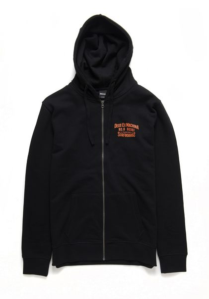 Deus Ex Machina Backwards Zip Hoodie 連帽外套-男/女(黑)