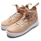 【六折特賣】Nike 休閒鞋 Wmns Air Force 1 Ultraforce Mid 卡其 白 中筒 皮面 女鞋 【PUMP306】 864025-200