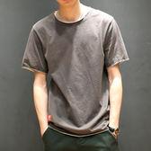 【年終】全館大促男裝寬鬆短袖T恤男士圓領純棉體恤